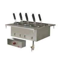 Diamond Elektrische pastakoker inbouw 40L | Met aftapkraan | 9 kW/h | 700x600mm