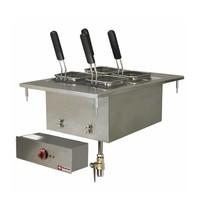 Diamond Elektrische pastakoker inbouw 20L | Met aftapkraan | 6kW/h | 400x600mm