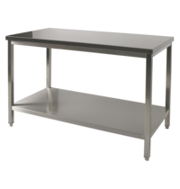 Diamond RVS Werktafel Met Bodemschap | 700mm diep | 880mm hoog