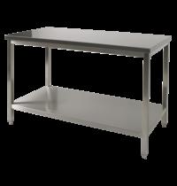 Diamond RVS Werktafel Met Bodemschap   700mm diep   880mm hoog