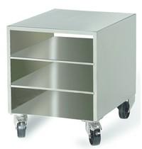 Diamond R.V.S. steun kast voor vacuummachine, op wielen, verwijderbaar | 483x606x673(h)mm