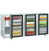 Diamond Flessenkoeler RVS 579L | 3 deurs | 230V | Geventileerd | 2065x565x890/905(h)mm