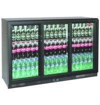 Diamond Flessenkoeler Back Bar met 3 schuifdeuren | 230V | Geventileerd | 1350x515x870(h)mm