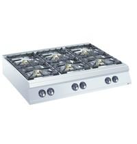 Diamond Gasfornuis 6 branders Top | 2x 10kW/h & 4x 6kW/h | 1200x900x250/320(h)mm