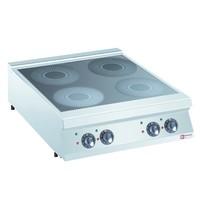 Diamond Elektrisch inductie fornuis met 4 kookzones Top   4x 5 kW/h   800x900x250/320(h)mm
