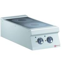 Diamond Elektrisch inductie fornuis met 2 kookzones Top | 10 kW/h | 400x900x250/320(h)mm