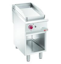 Diamond Bakplaat Verchroomd 1/2 | Met open kast | Bakplaat 380x720mm | 8kW | 400x900x850/920(h)mm