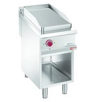 Diamond Bakplaat/Grillplaat 1/2 | Met open kast | Bakplaat 380x720mm | 6kW | 400x900x850/920(h)mm