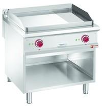 Diamond Bakplaat/Grillplaat 2/3, 1/3 | Met open kast | Bakplaat 770x610mm | 12kW | 800x900x850/920(h)mm