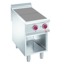 Diamond Elektrische fornuis met 2 verlaagde kookplaten op open kast | 2x 2,5 kW/h | 400x900x850/920(h)mm