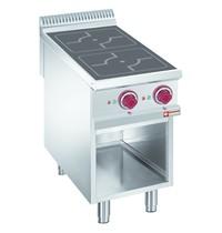Diamond Fornuis elektrisch met 2 inductie kookplaten op open kast | 10kW/h  | 400x900x850/920(h)mm