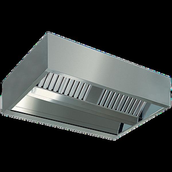 Centrale damkap 'KUBO'   10 labyrintfilters   2800x2200x450(h)mm