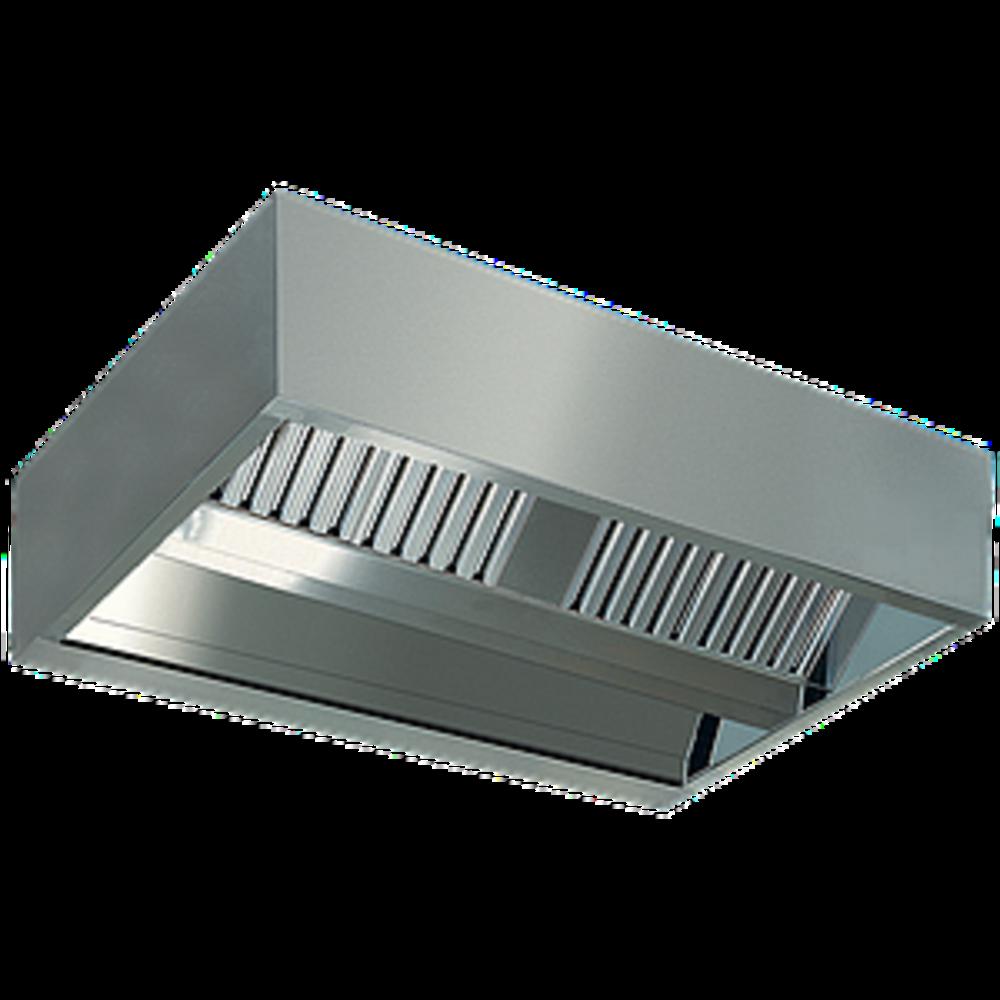 Centrale damkap 'KUBO' | 6 labyrintfilters | 2000x2200x450(h)mm