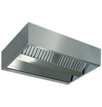 Diamond Centrale damkap 'KUBO' | 6 labyrintfilters | 1800x1500x450(h)mm