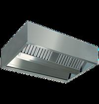 Diamond Centrale damkap 'KUBO' | 6 labyrintfilters | 1600x1500x450(h)mm