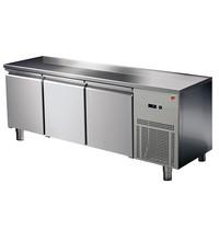 Ristormarkt Koelwerkbank RVS geventileerd  3 deurs 1/1 GN | 1865x700x850(h)mm