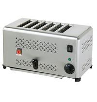 Ristormarkt Broodrooster RVS 6 sneden   2,5 kW   410x270x220(h)mm