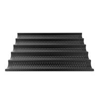 UNOX Stokbrood rooster zwart non stick geperforeerd aluminium voor 5 stokbroden 600x400mm