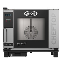 UNOX ChefTop (GN1/1)x05 MindOne | 7kW/h |  Met heteluchtcirculatie | 780x750x680(h)mm