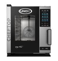 UNOX ChefTop (GN1/1)x05 MindCompact | 9,2kW/h | Met automatische reinigingssysteem | 872x535x649(h)mm
