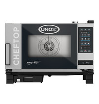 UNOX ChefTop (GN1/1)x03 MindPlus | 5,0kW/h | met hete luchtcirculatie en automatisch reinigingssysteem | 780x750x540(h)mm
