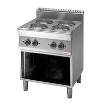 Modular Kooktoestel (cap.4st.) | 9,6kW  | Met 6 standen schakelaar | 700x700x850(h)mm