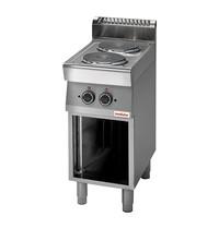 Modular Kooktoestel (cap.2st.) | 4,8kW | Met 6 standen schakelaar | 400x700x850(h)mm