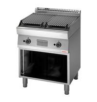 Modular Lavasteen grill | 15kW |  Met 2 onafhankelijke verhittingszones | 800x700x850(h)mm