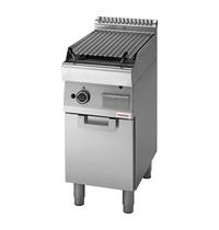 Modular Lavasteen grill | 7,5kW | Met piëzo elektrische ontsteking | 400x700x850(h)mm