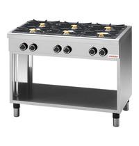 Modular Kooktafel (cap.6st.) | 25,8kW | Met geëmailleerde morspannen en thermokoppel | 1100x650x850(h)mm