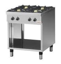 Modular Kooktafel (cap.4st.) | 17,2kW | Met geëmailleerde morspannen en thermokoppel | 700x650x850(h)mm