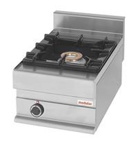 Modular Kooktoestel gas  |  1 brander + werkrooster 40x40cm  | 7,5kW | 400x650x280(h)mm