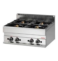 Modular Kooktoestel (cap.4st.) | 17,2 kW | Voorzien van piëzo elektrische ontstekingen | 700x650x280(h)mm