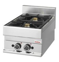 Modular Kooktoestel 2 brander | 8600W | Met piëzo elektrische ontstekingen | 400x650x280(h)mm