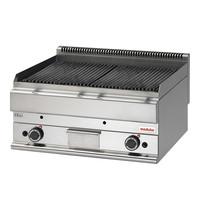 Modular Bakplaat met gietijzeren grillrooster | 15kW  | Met twee onafhankelijk instelbare verhittingszones | 700x650x280(h)mm