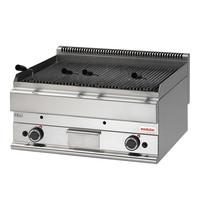 Modular Lavasteen grill  | Met 2 onafhankelijk instelbare verhittingszones | 11kW | 700x650x280(h)mm
