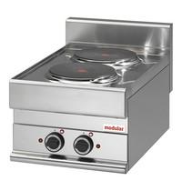 Modular Kooktoestel (cap.2st.) | 4,8kW | Met zwaar gegoten EGO kookplaten | 400x650x280(h)mm