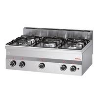 Modular Kooktoestel (cap.5st.)  17,7kW   Voorzien van piëzo elektrische ontstekingen   900x600x280(h)mm