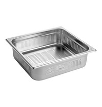 EMGA Gastronorm bak RVS | 2/3GN | Geperforeerd | 354x325x100(h)mm