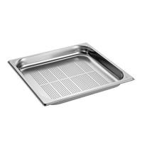 EMGA Gastronorm bak RVS | 3,5 liter | 2/3GN | Geperforeerd | 354x325x40(h)mm