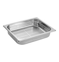 EMGA Gastronorm bak RVS | 1/2GN | Geperforeerd | 325x265x65(h)mm