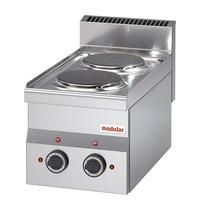 Modular Kooktoestel (cap.2st.) | 3kW | Met 6 standen schakelaar | 300x600x280(h)mm