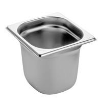 EMGA Gastronorm bak RVS | 2,3 liter | 1/6GN | 176x162x150(h)mm