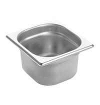 EMGA Gastronorm bak RVS | 1,5 liter | 1/6GN | 176x162x100(h)mm
