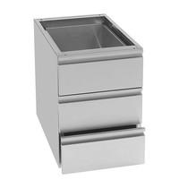 MULTINOX ladenblok (cap.3xGN1/1) | Voor TRA en TR model | 640x400x550(h)mm