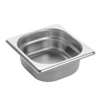 EMGA Gastronorm bak RVS |1 liter | 1/6GN | 176x162x65(h)mm