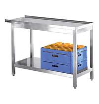 Modular RVS aan/afvoertafel  met onderschap  | 800x550x850(h)mm