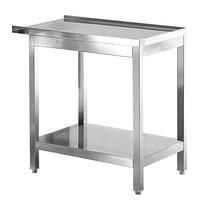 Modular RVS aan/afvoer tafel met onderschap | 800x550x850(h)mm