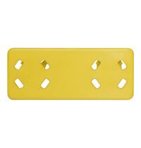 CaterRacks Kleurenclip geel | 120(b)x50(h)mm