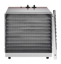 EMGA Voedsel Droogoven   1kW   10 Roosters   Ventilatorverwarming   435x511x433(h)mm